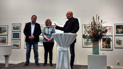 Hanka & Frank Koebsch u. Franz N. Krüger bei der Eröffnung der Ausstellung © Bernd Sturzrehm (1)