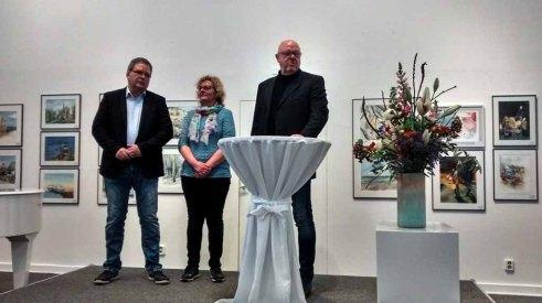 Hanka & Frank Koebsch u. Franz N. Krüger bei der Eröffnung der Ausstellung © Bernd Sturzrehm (2)