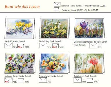 Kunstkarten mit Blumen von H&F Koebsch im Frühlings- und Sommerprogramm 2019 des Präsenz Verlages