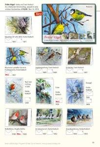 Kunstkarten mit Vögeln von H&F Koebsch im Frühlings- und Sommerprogramm 2019 des Präsenz Verlages