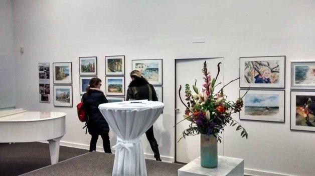 Schnappschuss aus der Ausstellung Farbspiele in der Kunsthalle Kühlungsborn © Bernd Sturzrehm