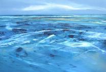 y 1 Hinrich JW Schüler - Abstrakte Landschaft 1-2015, 70 cm x 100 cm, Acryl auf Baumwollsegeltuch