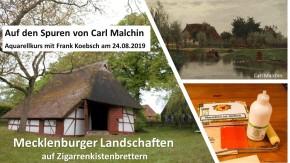 Aquarellkurs - Mecklenburger Landschaften auf Zigarrenkistenbrettern (c) FRank Koebsch