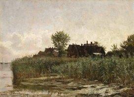 Carl Malchin, Althagen am Saaler Bodden bei Wustrow, um 1893. © Staatliche Schlösser, Gärten und Kunstsammlungen Mecklenburg-Vorpommern