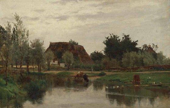 Carl Malchin (1838 - 1923) l Ölstudie l 30,3 x 45,7 cm l Ausgabe: Öl auf Leinwand, auf Karton geklebt l Inv. Nr.: G 1869