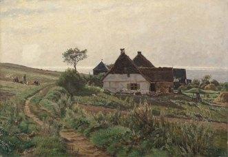 Carl Malchin, Katen an der Ostsee in Ahrenshoop, 1891 © Staatliche Schlösser, Gärten und Kunstsammlungen Mecklenburg-Vorpommern