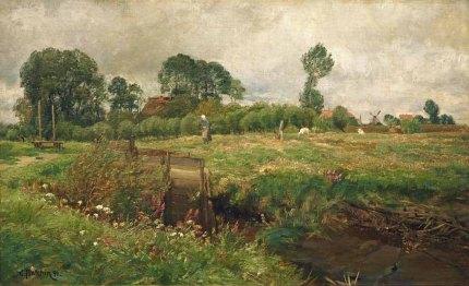 Carl Malchin - Sommerliche Landschaft bei Althagen (1891) Öl auf Leinwand - Wikimedia