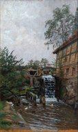 Carl Malchin, Wassermühle in Langen-Brütz, 1906 07 © Staatliche Schlösser, Gärten und Kunstsammlungen Mecklenburg-Vorpommern