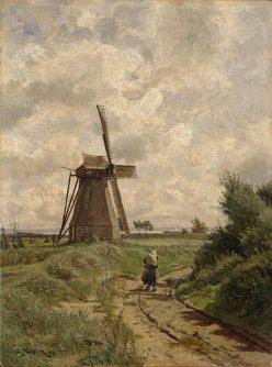 Carl Malchin - Windmühle bei Ahrenshoop (1891), ÖL auf Leinwand - Wikimedia