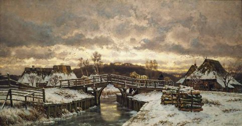 Carl Malchin - Winter in Markgrafenheide (1903) Öl auf Leinwand - Wikimedia