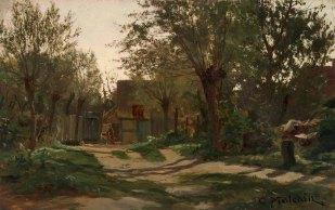 Carl Malschin, Dorfmotiv aus Neu Brenz, © Staatliche Schlösser, Gärten und Kunstsammlungen Mecklenburg-Vorpommern - Z