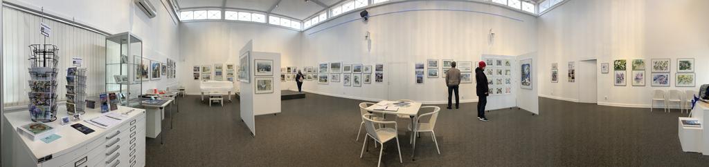 Einblick in die Ausstellung Farbspiele von Hanka & FRank Koebsch in der Kunsthalle Kühlungsborn (c) Georg Karlstetter