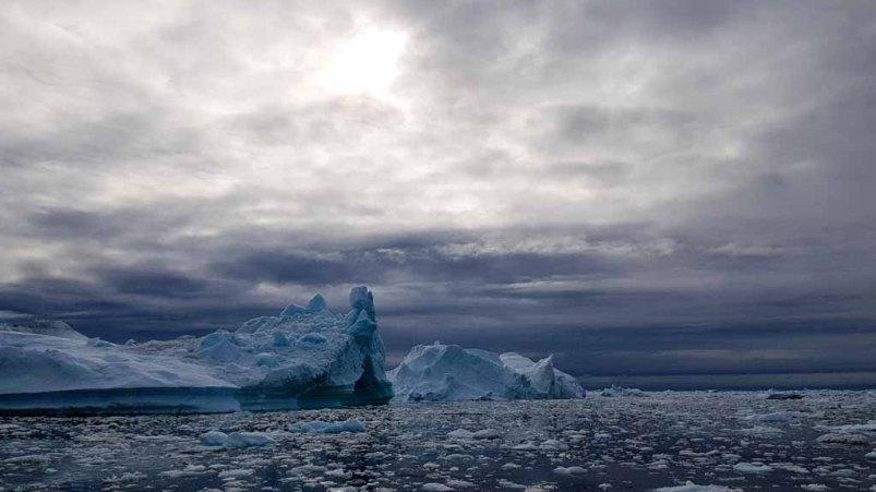 Eisberge vor Ilimanaq in der Disko Bucht (1) Frank Koebsch