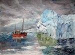 Entdeckungen im Grönlandeis (c) Aquarell von Frank Koebsch