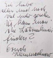 Gästebucheintag KLeinmachnow - Ausstellung Farbstpiele - Aquarelle von Hanka & FRank Koebsch