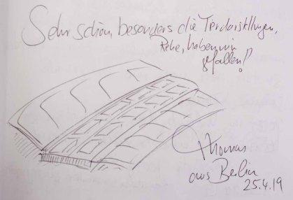Gästebucheintag - Thomas aus Berlin - Ausstellung Farbstpiele - Aquarelle von Hanka & FRank Koebsch