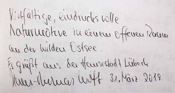 Gästebucheintag Wolff - Ausstellung Farbstpiele - Aquarelle von Hanka & FRank Koebsch