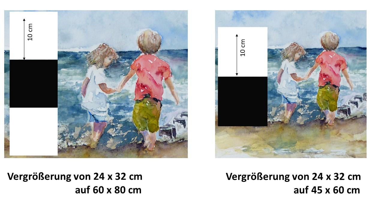 Auswirkungen der Vergrößerung für die Drucke von unseren Aquarellen (c) Frank Koebsch (1)