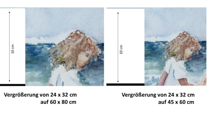 Auswirkungen der Vergrößerung für die Drucke von unseren Aquarellen (c) Frank Koebsch (2)