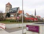 Blick vom Mühlendamm auf die Nikolai Kirche in Rostock (c) Frank Koebsch (1)
