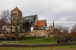Blick vom Mühlendamm auf die Nikolai Kirche in Rostock (c) Frank Koebsch (3)