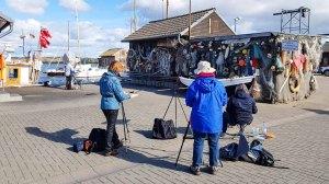 Malen im Hafen von Gager © Frank Koebsch (2)