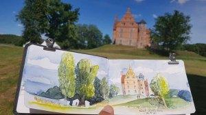 Schloss Ulrichhusen im Skizzenbuch von Frank Koebsch (1)