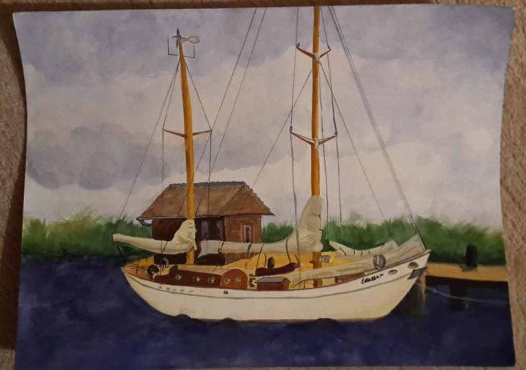 Segelboot im Hafen von Gager (c) Sabine Kihlholz (1)