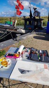 Unser Motiv der Fischkutter GAG 11 im Hafen von Gager © Frank Koebsch (2)