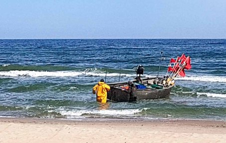 Fischer am Strand von Baabe - Malreise Faszination Rügen (c) FRank Koebsch (4 1)