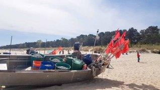 Fischerboot am Strand von Baabe - Malreise Faszination Rügen (c) FRank Koebsch (2)