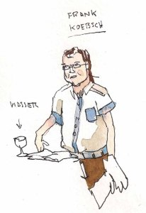 Frank Koebsch (c) Zeichnung von Till Lenecke