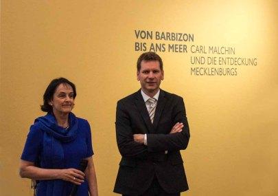 Frau Dr. Pirko Kristin Zinnow und Hr. Dr. Tobias Pfeifer-Helke eröffnen die Preview zu Ausstellung von Carl Malchin © Frank Koebsch (1)