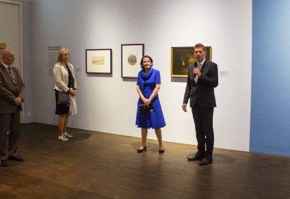 Frau Dr. Pirko Kristin Zinnow und Hr. Dr. Tobias Pfeifer-Helke eröffnen die Preview zu Ausstellung von Carl Malchin © Frank Koebsch (2)