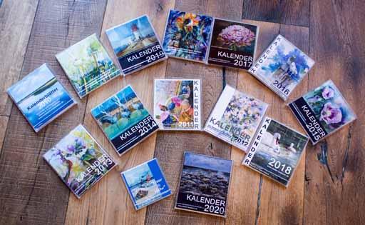 Kalender 2007 – 2020 mit Aquarellen von Hanka und Frank Koebsch