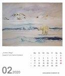 Kalenderblatt Februar 2020 für den Kalender mit Aquarellen von Hanka & Frank Koebsch