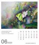 Kalenderblatt Juni 2020 für den Kalender mit Aquarellen von Hanka & Frank Koebsch