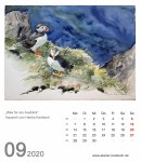 Kalenderblatt September 2020 für den Kalender mit Aquarellen von Hanka & Frank Koebsch