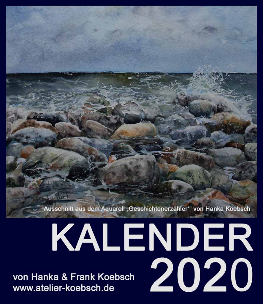 Kalender 2020 mit Aquarellen von Hanka & Frank Koebsch