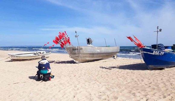 Malen am Strand von Baabe - Malreise Faszination Rügen (c) FRank Koebsch (1)