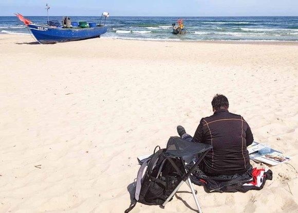 Malen am Strand von Baabe - Malreise Faszination Rügen (c) FRank Koebsch (10)