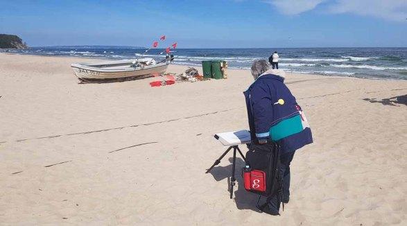 Malen am Strand von Baabe - Malreise Faszination Rügen (c) FRank Koebsch (11)