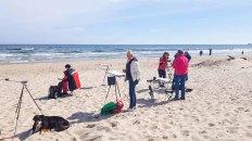 Malen am Strand von Baabe - Malreise Faszination Rügen (c) FRank Koebsch (4)