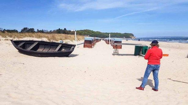 Malen am Strand von Baabe - Malreise Faszination Rügen (c) FRank Koebsch (5)
