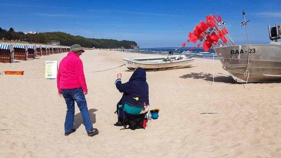 Malen am Strand von Baabe - Malreise Faszination Rügen (c) FRank Koebsch (6)