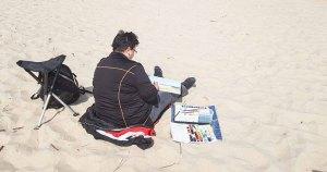 Malen am Strand von Baabe - Malreise Faszination Rügen (c) FRank Koebsch (9)