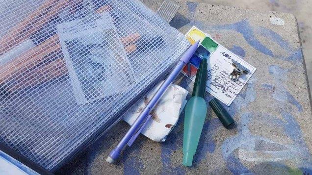 Mein Handwerkszeug für Urban Sketching (c) FRank Koebsch