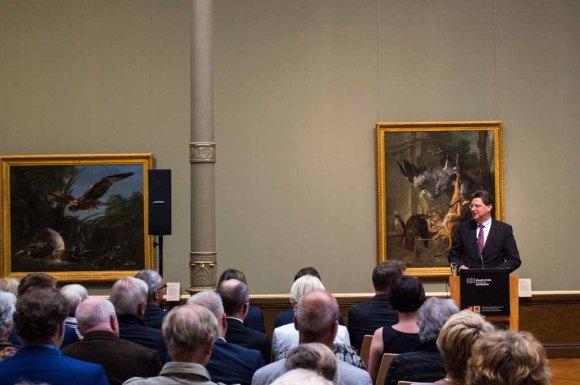 Reinhard Meyer bei der Eröffnung der Ausstellung - Von Barbizon bis ans Meer. Carl Malchin und die Entdeckung Mecklenburgs © Frank Koebsch (2)