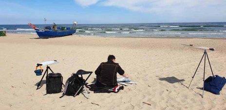 Schnappschüsse in der Pause beim Malen am Strand von Baabe (c) Gerit Grünheid (1)