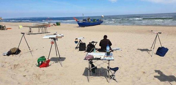 Schnappschüsse in der Pause beim Malen am Strand von Baabe (c) Gerit Grünheid (2)